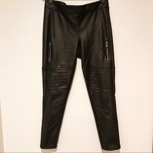 EXPRESS Faux Leather Moto Leggings — Size Small